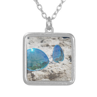 Beach life... silver plated necklace
