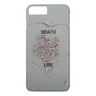 Beach life starfish in a heart iphone case