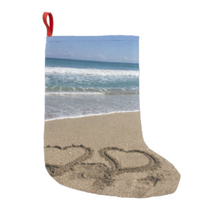 Beach Love Small Christmas Stocking
