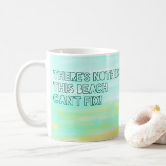Beach Lover Quote Watercolor Typography Coffee Mug