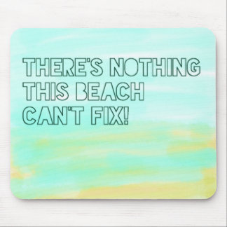 Beach Lover Quote Watercolor Typography Mouse Pad