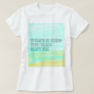 Beach Lover Quote Watercolor Typography T-Shirt