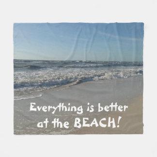 Beach Lovers Fleece Blanket