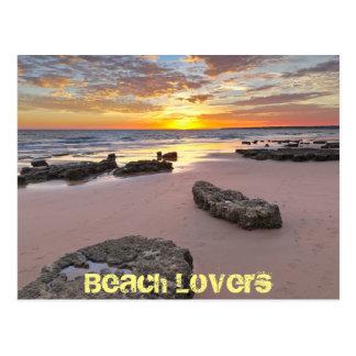 Beach Lovers - Summer season theme Postcard