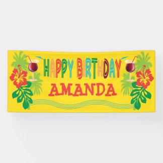 Beach Luau Birthday Party Banner