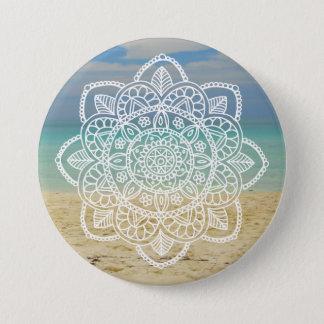Beach Mandala 7.5 Cm Round Badge