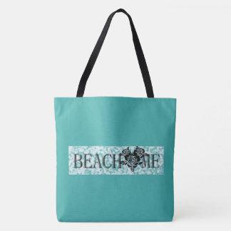 Beach-Me*_Indecision Bag_Ocean & Hot Pink_Multi-Sz Tote Bag