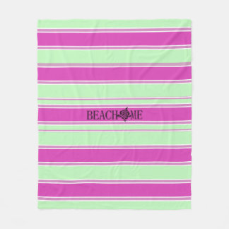 Beach-Me*-Watermelon-Stripes(c)_Med Fleece Blanket