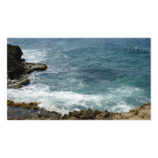 Beach Meets Ocean Business Card Templates