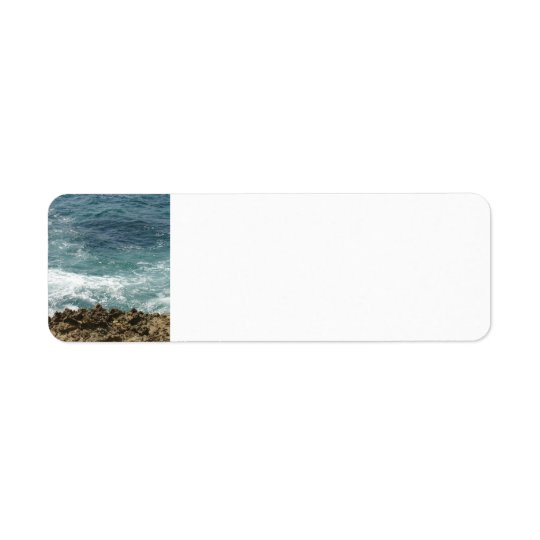 Beach Meets Ocean Return Address Label