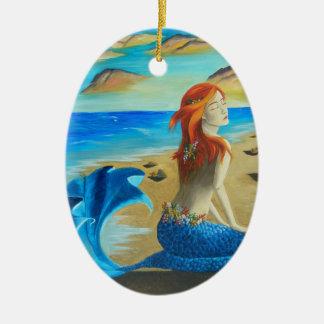 Beach Mermaid Ornament Siren Ornament