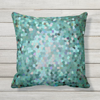 Beach mosaic outdoor cushion