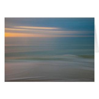 Beach Motion Blurred Abstract | Florida, USA Card