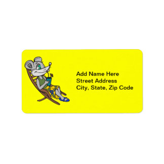Beach Mouse Address Label