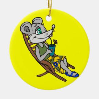 Beach Mouse Christmas Ornaments