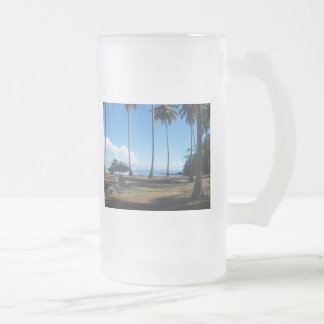 Beach Frosted Glass Mug