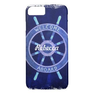 beach nautical navy sailor captain ship wheel iPhone 8/7 case
