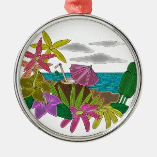 Beach neon metal ornament