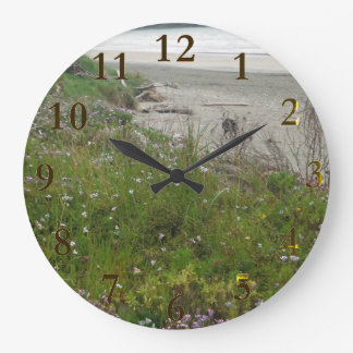 beach new zealand aotearoa large clock