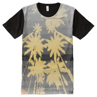 beach night black yellow All-Over print T-Shirt