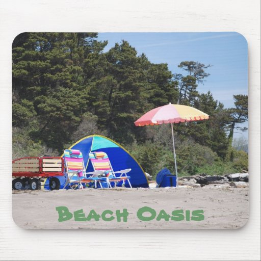Beach Oasis Mouse Pad