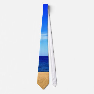 Beach ocean and sky tie