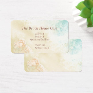 Beach Ocean Seaside art Business Card Cafe