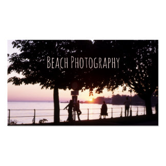 Beach, Ocean Sunset Pier with People Seascape Pack Of Standard Business Cards