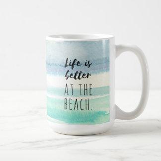 Beach Ocean Themed Decor Watercolor Mug
