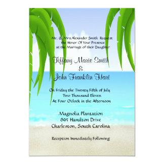 "Beach/Ocean Wedding Invitations 5"" X 7"" Invitation Card"