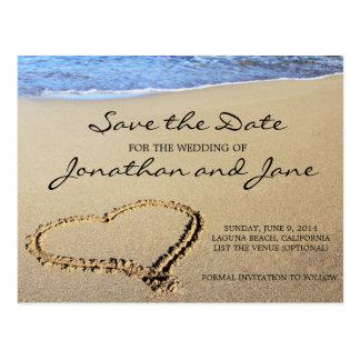 Beach Ocean Wedding Save the Date Postcards