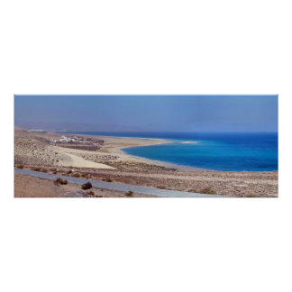 Beach of Leeward in Fuerteventura Poster