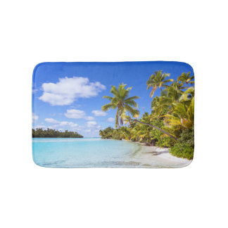 Beach Of Tapuaetai | Aitutaki, Cook Islands Bath Mat