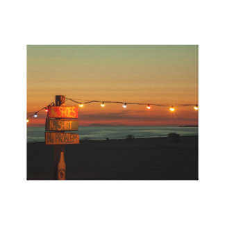 Beach on Sunset Stretched Canvas Prints