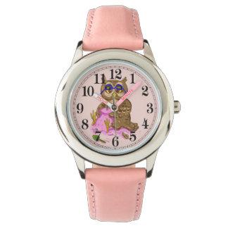 Beach owl pink sand wristwatches