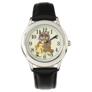 Beach owl  sand tower wrist watches