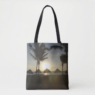 Beach Palapas Sunrise Tote Bag