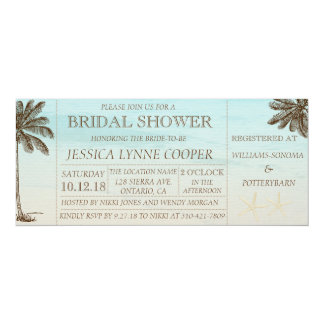 Beach Palm Bridal Shower Invitation