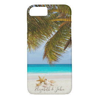 Beach,Palm,Seashells  -Personalized iPhone 8/7 Case
