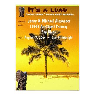 Beach Palm Tree Luau 17 Cm X 22 Cm Invitation Card