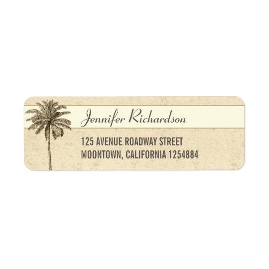 beach palm tree return address labels