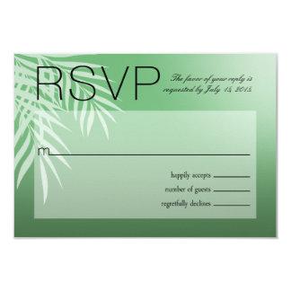 Beach Palm Tree Silhouette RSVP | jade Card