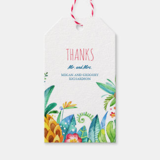 beach palms tropical flowers wedding