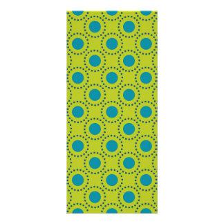 beach-paper-2 GREEN BLUE POLKA DOT POLKADOTS Personalized Rack Card