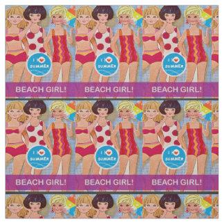 Beach Paper Doll Fabric
