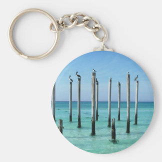 Beach Paradise Basic Round Button Key Ring