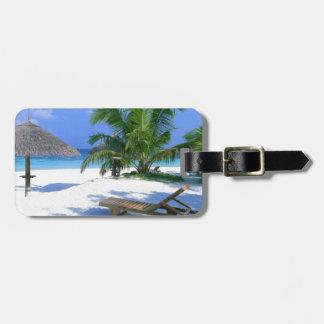 Beach Paradise Vacation Luggage Tag