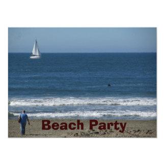 Beach Party 17 Cm X 22 Cm Invitation Card