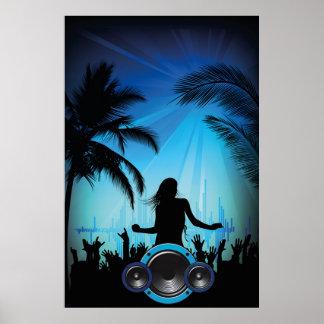 beach-party-250513 beach party beach music dance c poster