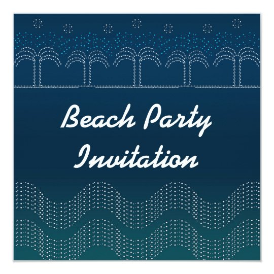 Beach Party - Card Invitation